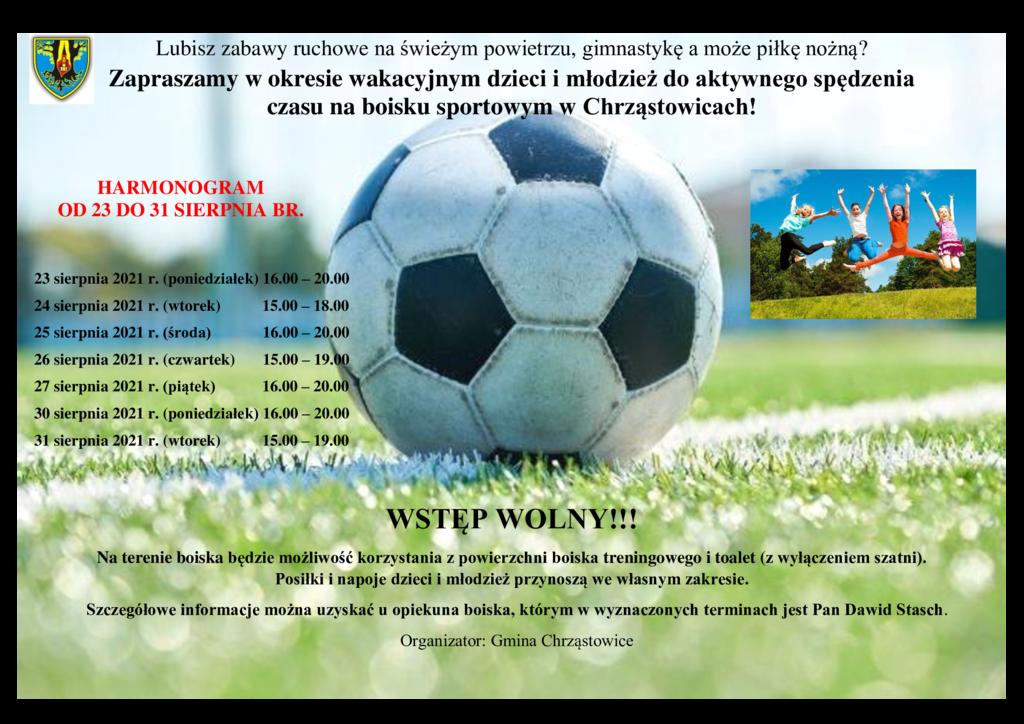 Plakat-o-zajęciach-na-boisku-sportowym-w-Chrząstowicach.png